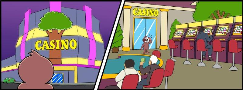 slothino enters a casino
