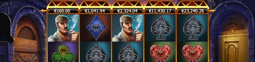 Slothino blog review progressive jackpot slot Holmes and the stolen stones