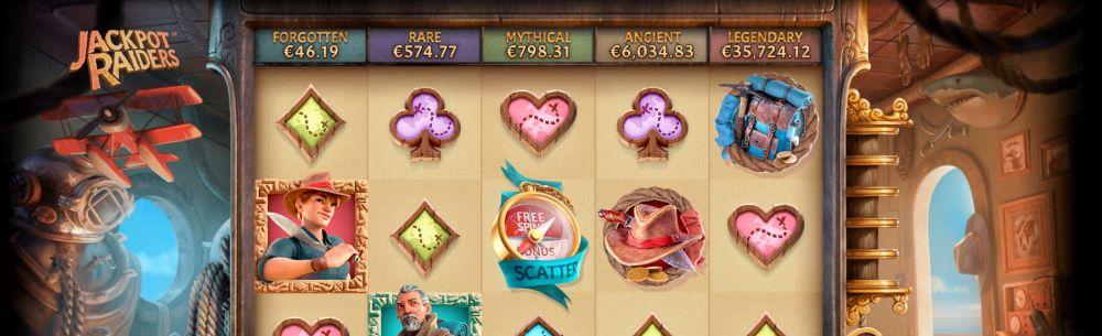 Slothino blog review of progressive jackpot slot Jackpot Raider